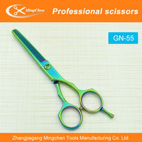 Green hair scissors, scissors,Barber Hairdressing Scissors Salon Beauty Shears