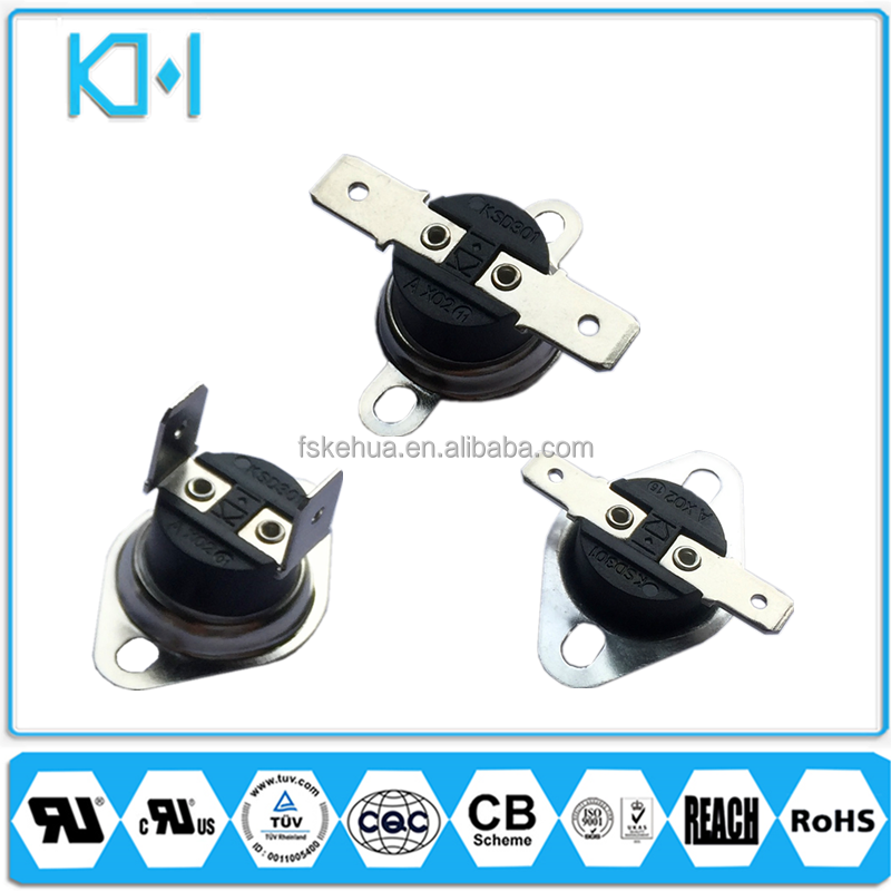 KSD301 Waterproof Thermostat Switch For Dishwasher Auto Rese