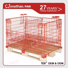 Warehouse folding security wire mesh roll cage