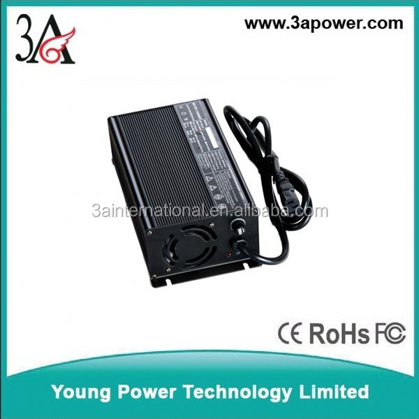 lifepo4 battery charger 48v 58.4v 56v 5A 6A smart chargers with fan fuse lithium battery chargers