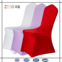 Universal 200GSM Spandex Fabric Customized Ivory Banquet Chair Covers