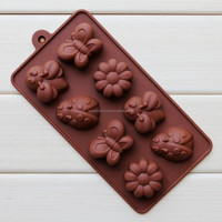 High quality insect shape Silicone chocolate mould