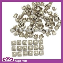 Decorative Square Pyramid Nailhead Stud in Silver(Nickel)