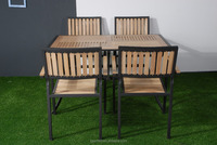modern furniture design wooden garden table and chair