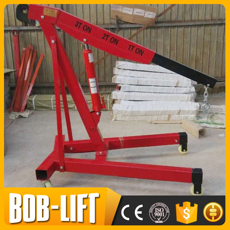 Manual Small Automotive Engine Hoist Shop Crane