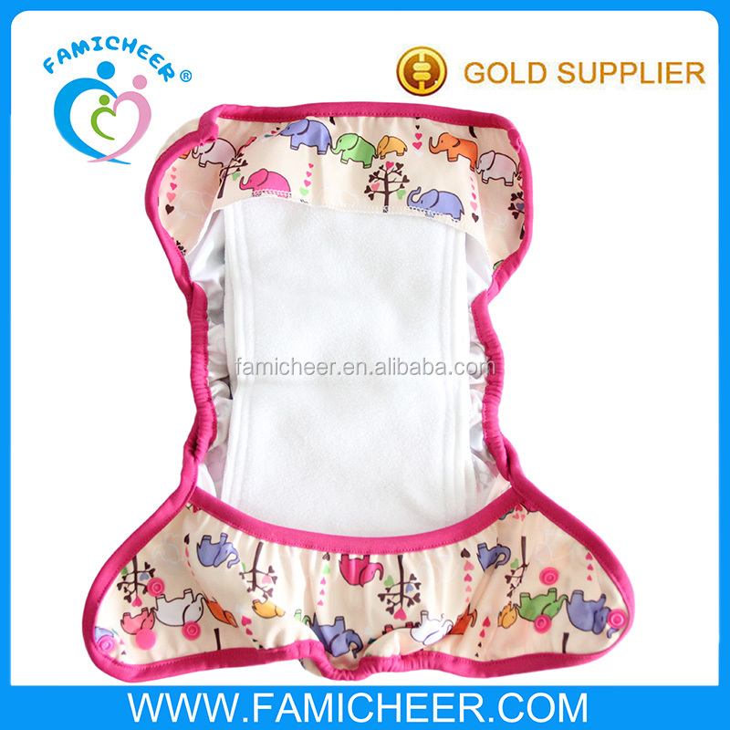 Double Gusset Cloth Leaking-proof Washable Diaper Cover