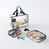 Accept Custom Outdoor Travel Zipper Polyester Clear Cosmetic Bag