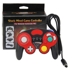 Black+Red Wired Gamepad Controller for Nintendo Gamecube Console