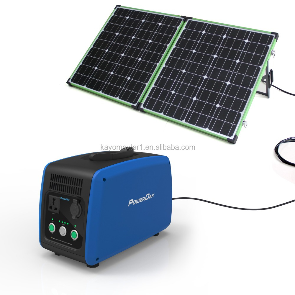 Solar System Camping generator 500w PowerOak PS10B 500W 700Wh/1200Wh/1500Wh Lithum Battery Pack Power