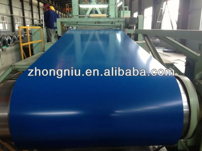 Color coated steel coil with PVC film RAL5020