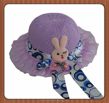 Promotional children polyester beach hat
