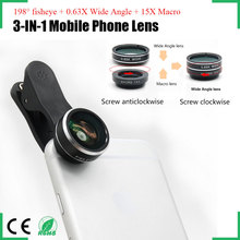 Europe and America hot selling anti-slip clip 198 degree fisheye lens mobile phone camera lens for iPhone Samsung HTC LG Huawei