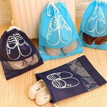 Factory Custom Logo Drawstring shoe bag With Clear Window