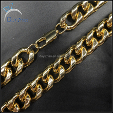 factory 14k plated gold men's hip hop cuban chains necklace