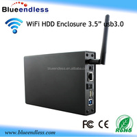 external hard drive enclosure 3tb wifi usb3.0 to sata 3.5 inch wireless hdd case