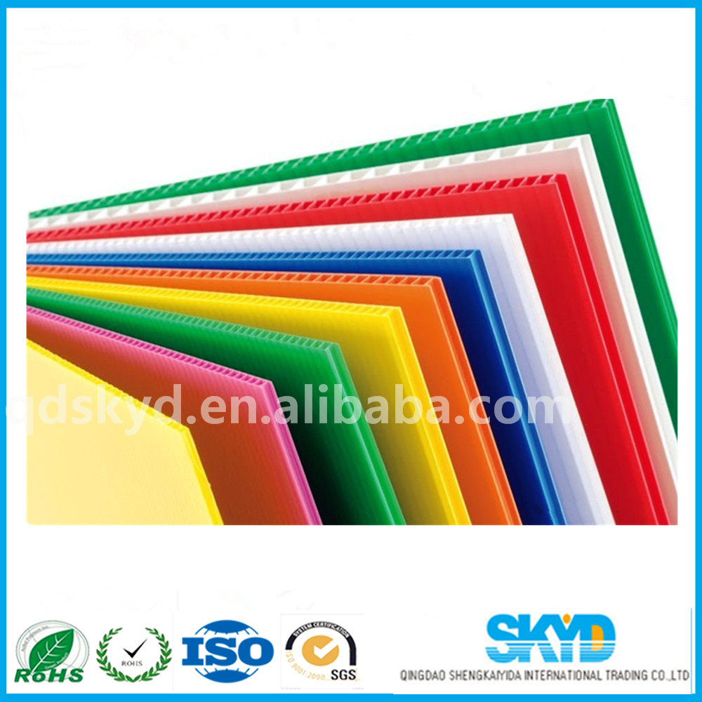 clear PP corrugated plastic roofing sheets plastic