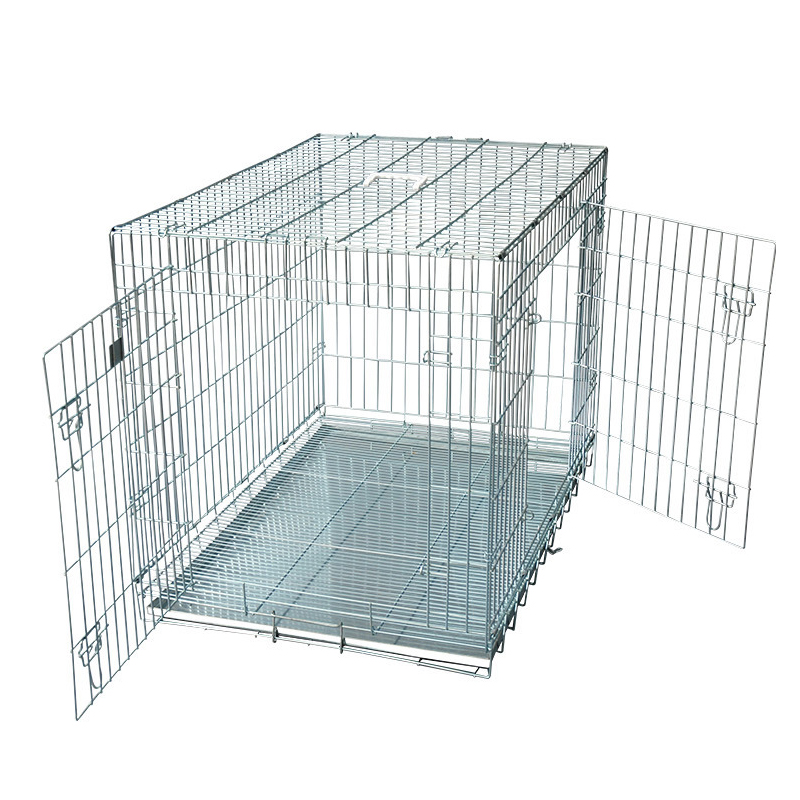Outdoor Galvanized Enclosure dog crate folding
