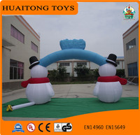 Selling like hotcakes christmas theme arch /inflatable christmas decorations