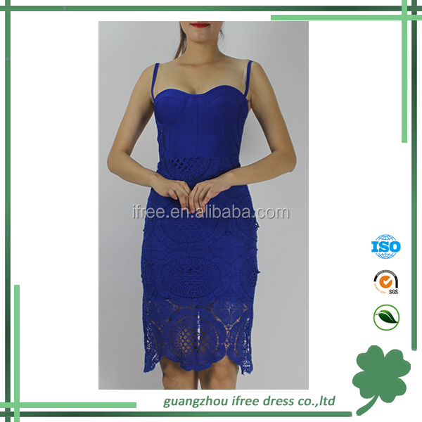 good quality factory price lace graceful party wholesale bandage dress in China