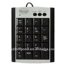 Multi function keypad with 19 keys