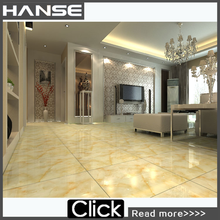 Polished faux white marble flooring tile HS652GN