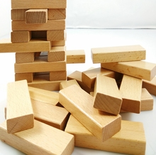 Blank jenga block for your writing of well wishes or advise