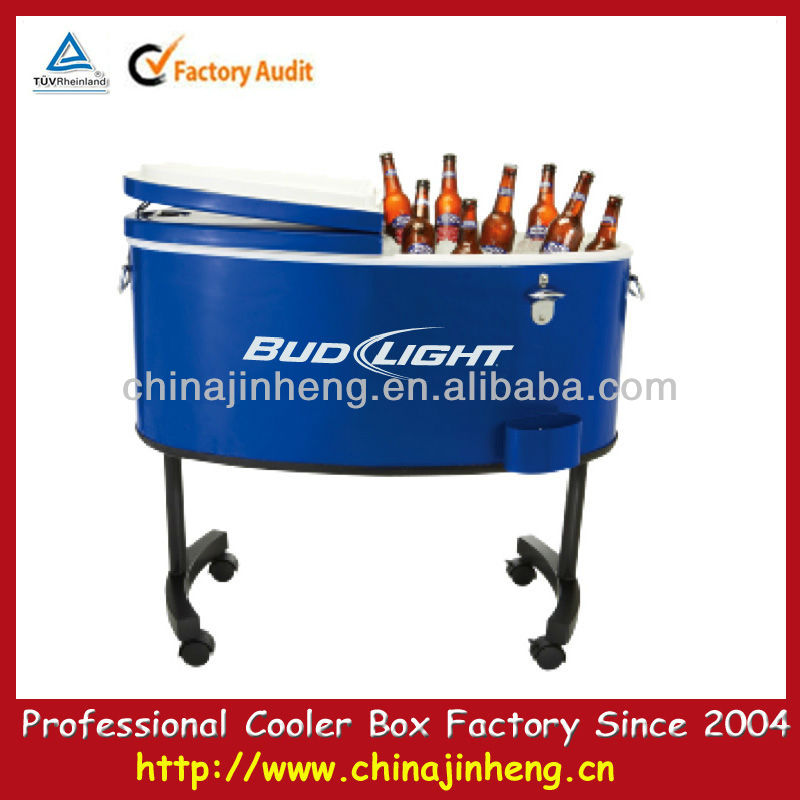 Rolling 82-Quart Steel-Belted Cooler