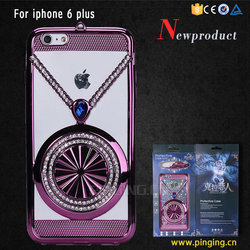 New Designed Crystal Diamond electroplate tpu Case for iphone 6s , cover case for iphone 6s