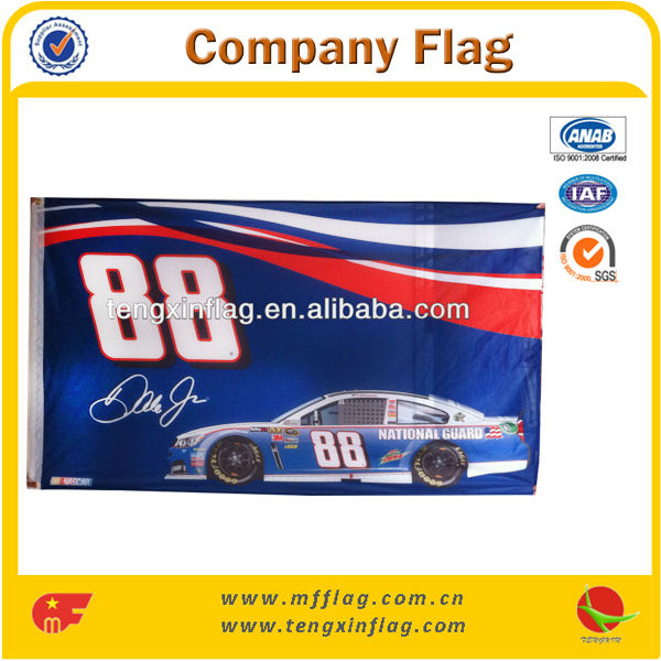 Huge Car Race Game Flag Cheap Advertising Flags