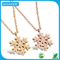 Jewelry Making Supplies Stainless Steel Snowflake Necklace