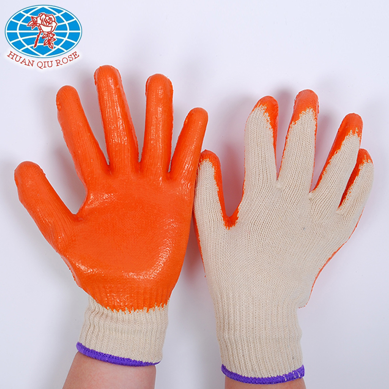 10G labour protection latex coated glove