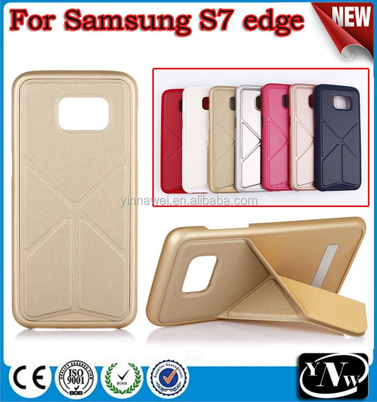 Fashion Transform Stand case for samsung s7edge Folding Smart Case