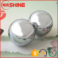 73mm diameter smooth surface healthy care chinese massage metal ball for oldly