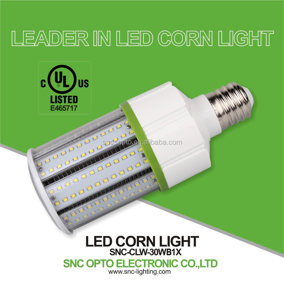 LED Corn Light with UL Approval E26 E39 30w SMD3528 led corn cob light bulb