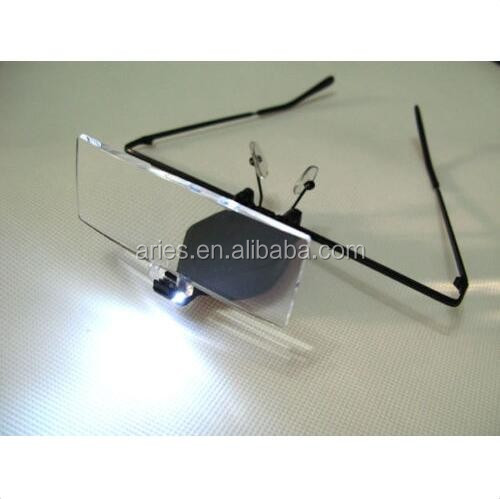 POWER w/one LED light magnifier for clock & watch repair &eyelash extension