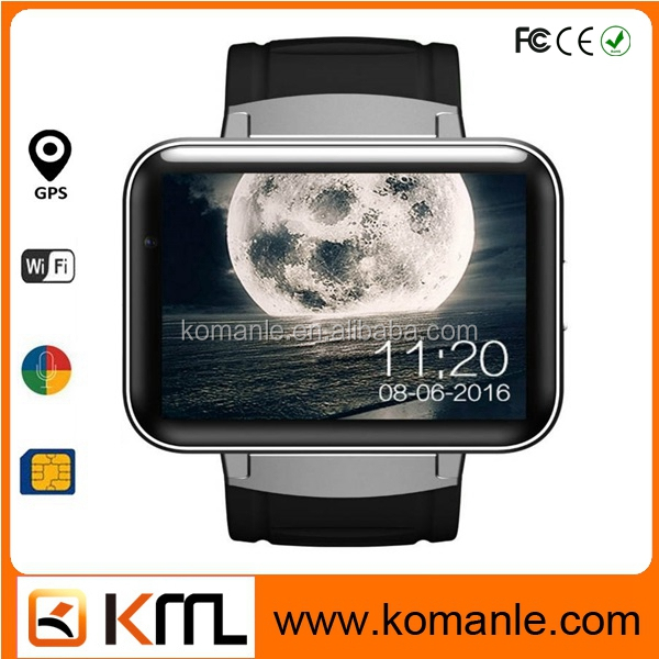 dm98 internet watch phone CE RoHS Quad Core 512M RAM + 4G ROM 3g Wifi android smart watch