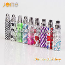 Jomo manufacturer crystal diamond e cigs ego battery blinged eletric battery for e vaporizers