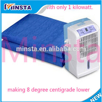 Cooling in summer lower price 110 v and 220 v electric mini air conditioner cold water blankets
