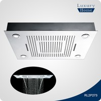 SUS304 stainless steel LED top shower head