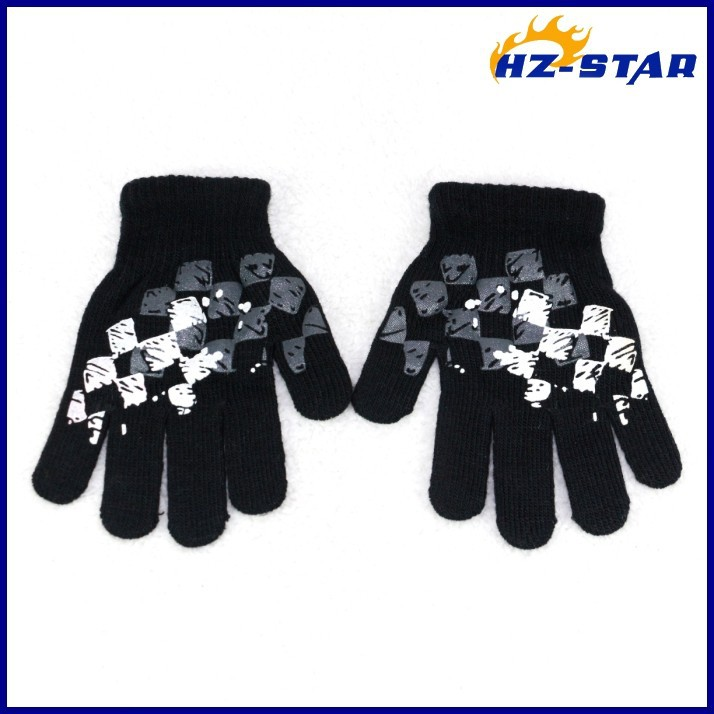 HZS-13239004 new design fashion baby boy print warm magic hand softening cute resistant gloves