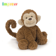 2017 infant organic baby toys soft cute monkey plush toys