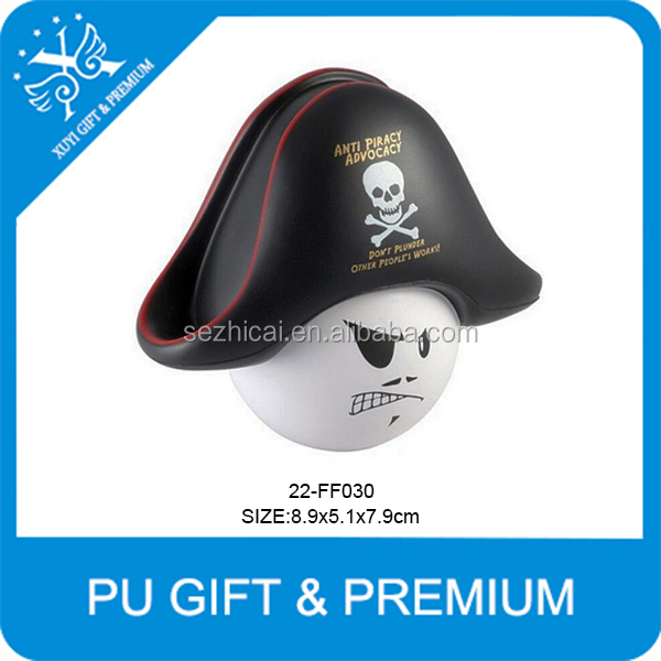 newest promotional toys pirate mad cap stress balls