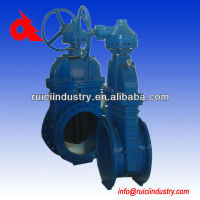 DN500 cast iron stem rising spindle gate valve