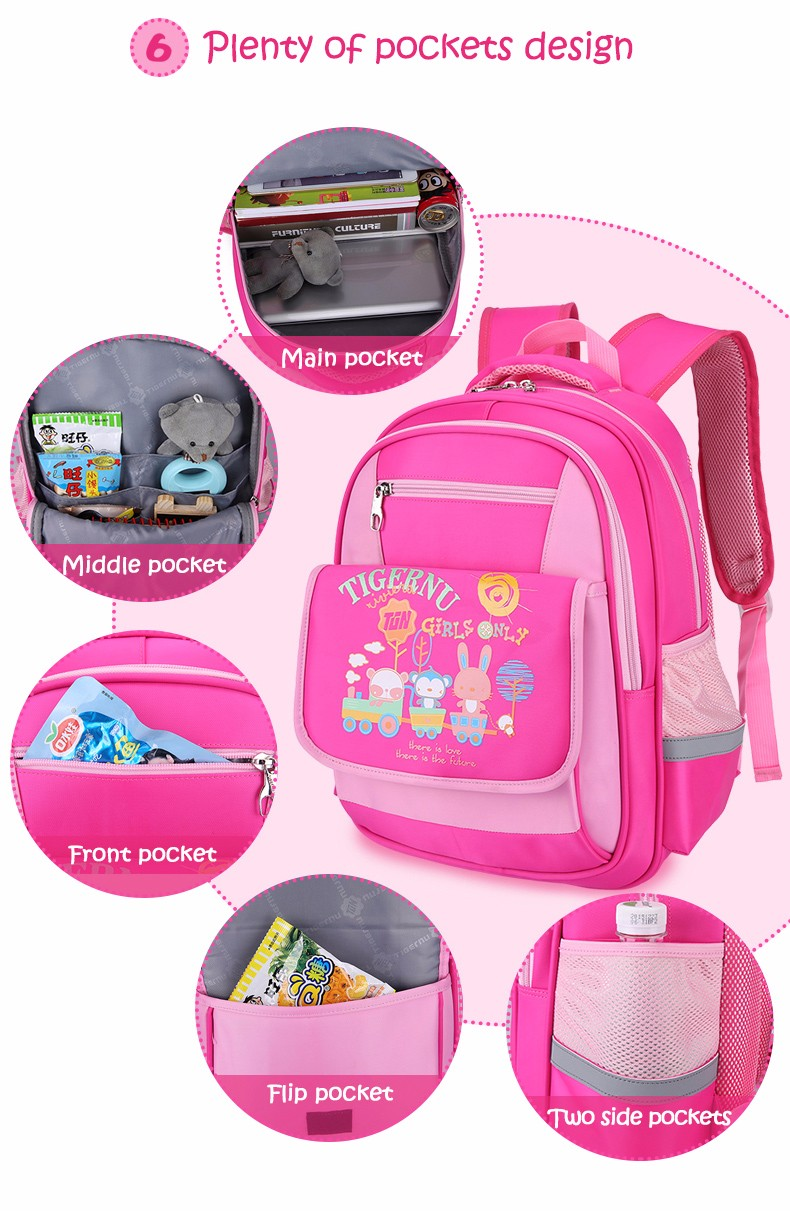 2017 Tigenru Brand Cute Kids Children Cartoon school bags backpack bookbag female school backpacks for girls boys schoolbag