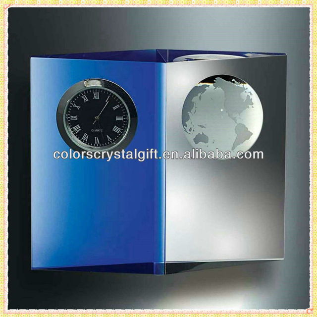Handmade Unique Exquisite Crystal Plaque Clock For New Year Business Gifts Souvenirs
