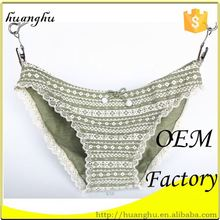 Hot sales soft good quality fast delivery lace v-string briefs panties