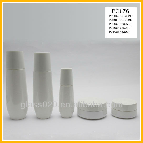 White coating glass cosmetic bottle and jar