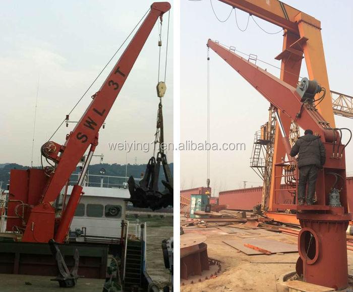 Jib Cranes Suppliers : China supplier marine hydraulic deck jib crane buy