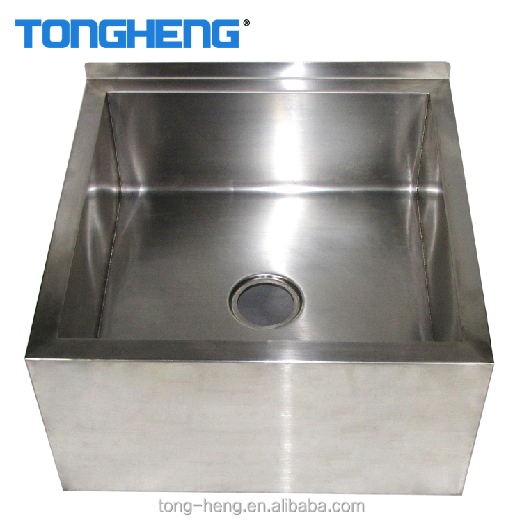Factory direct sale large size cleaning water sink stainless steel floor mounted mop sink