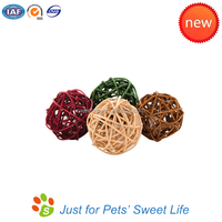 Eco-friendly Nature Pet Products Wicker Ball Cat Toy